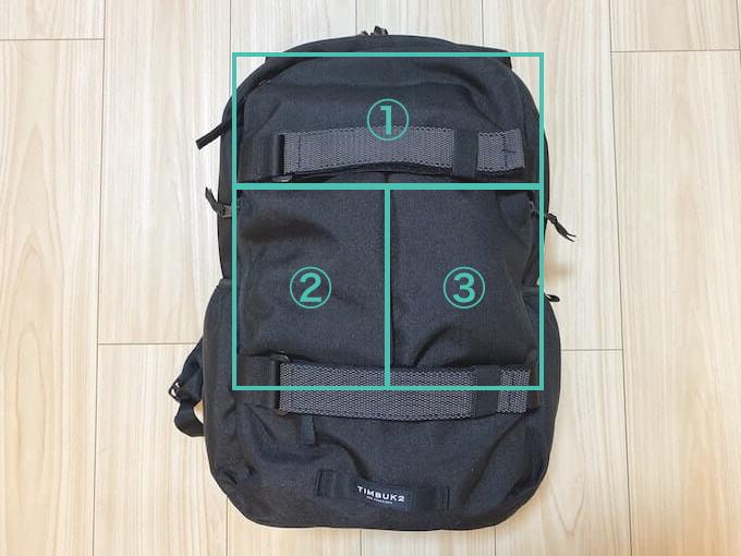 TIMBUK2 Vert Packレビュー_3つの外ポケット