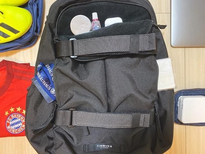 TIMBUK2 Vert Packレビュー_外ポケットに小物を収納