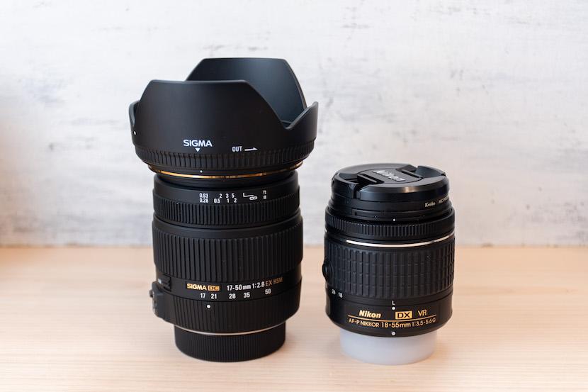SIGAM1750レビュー_標準レンズと比較