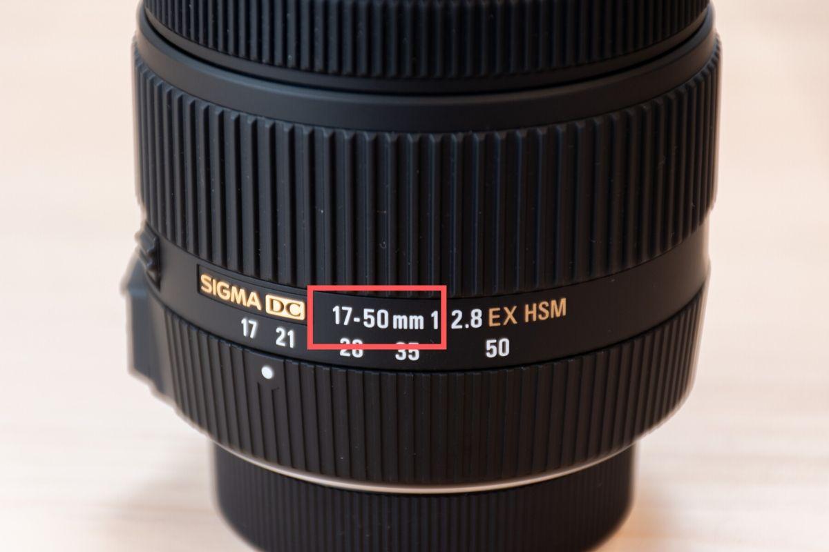 レンズの焦点距離(17mm-50mm)