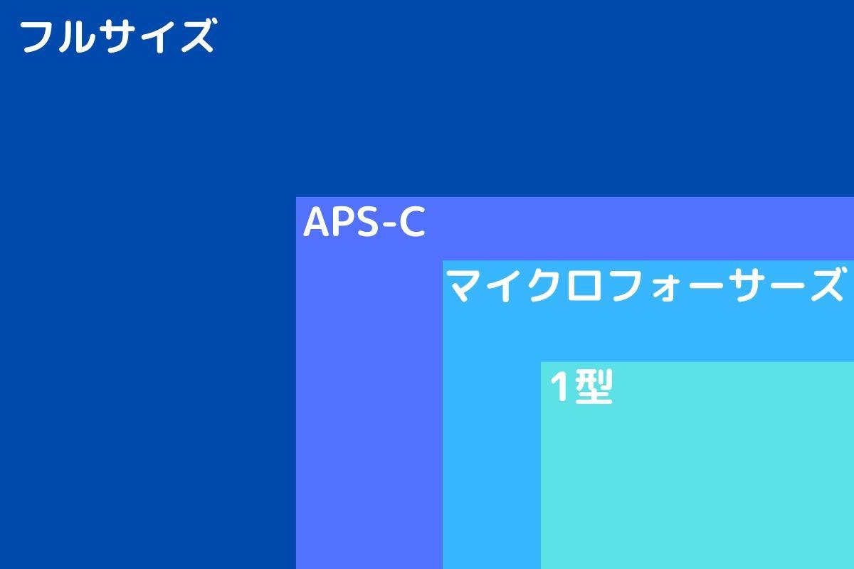 フルサイズ、APS-C、マイクロフォーサーズのセンサーサイズの違い